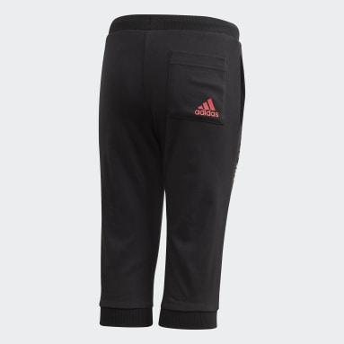 Kids 4-8 Years Gym & Training Black 3/4 Pants