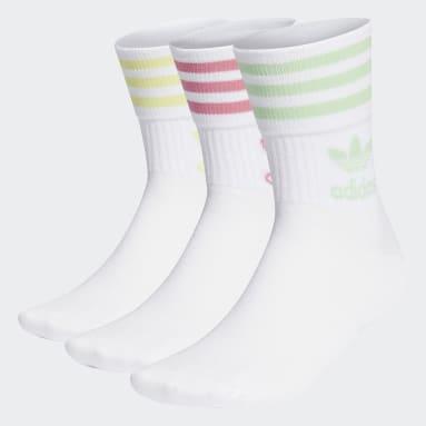 белый Три пары носков Crew Mid-Cut