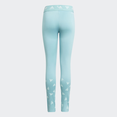 Youth 8-16 Years Gym & Training Green AEROREADY Up2Move Cotton Touch Training Stretch Leggings