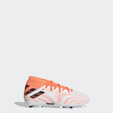 Kids Football White Nemeziz.3 Firm Ground Boots