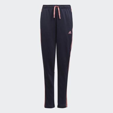 Pantalón adidas Designed To Move 3 bandas Azul Niña Sportswear