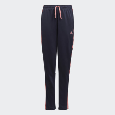 Pantalón adidas Designed To Move 3-Stripes Azul Niña Training