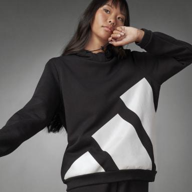 Sweat-shirt à capuche Logo Noir Femmes Sportswear