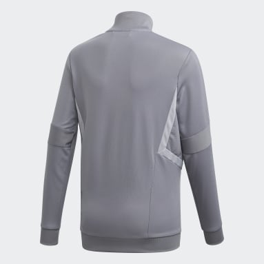 Youth Soccer Grey Tiro 19 Training Jacket