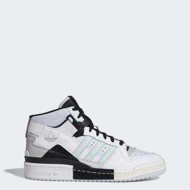 Originals Forum Exhibit Mid Schuh Weiß