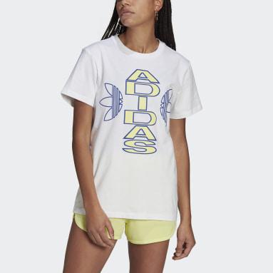 Kvinder Originals Hvid Loose Collegiate T-shirt