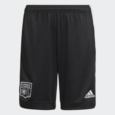 Pantalón corto tercera equipación Olympique de Lyon 21/22 Negro Niño Fútbol