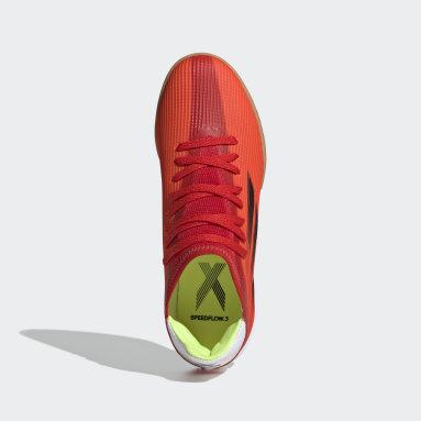 Children Soccer Red X Speedflow.3 Indoor Shoes