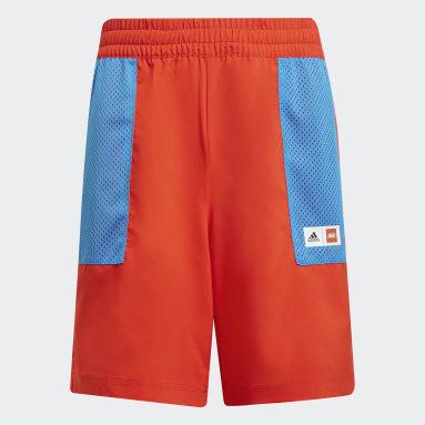 Pantalón corto adidas x Classic LEGO® Woven Rojo Niño Gimnasio Y Entrenamiento