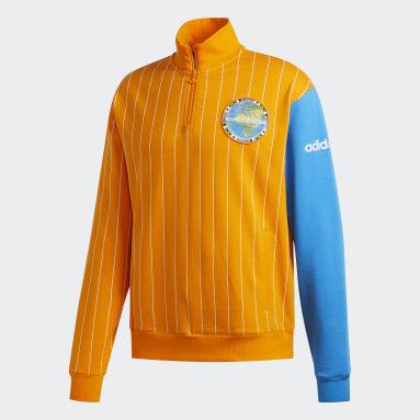 Men Originals Orange FA Blocked Sweatshirt