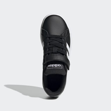 Zapatillas Grand Court Negro Niño Diseño Deportivo