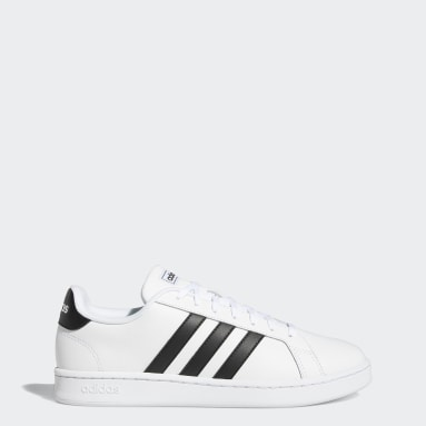 Sport Inspired White Grand Court Shoes
