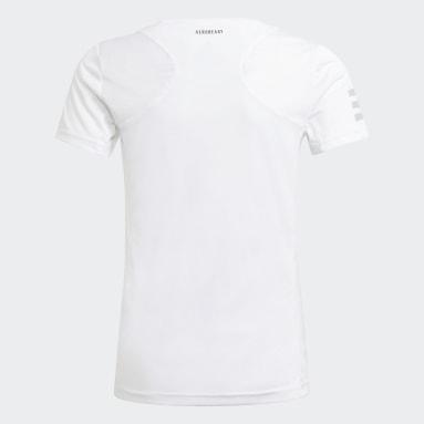Mädchen Tennis Club Tennis T-Shirt Weiß