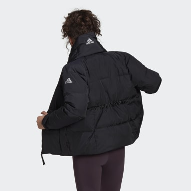 Women's Lifestyle Black Glam On Puffer Down Jacket