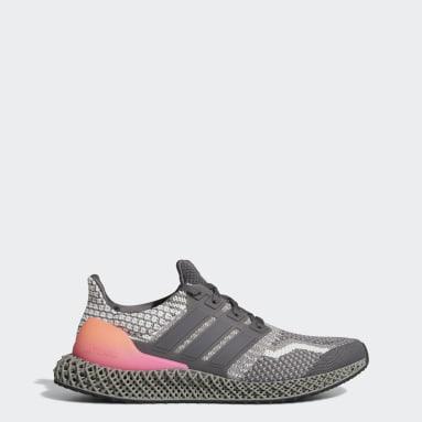 Men Running Grey Ultra 4D 5 Shoes