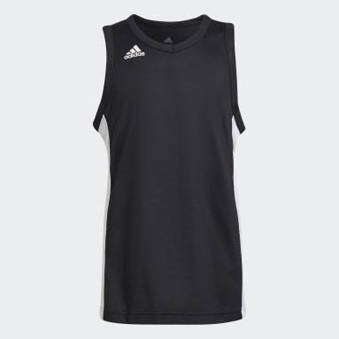 Kinderen Basketbal Zwart N3XT Prime Game Shirt