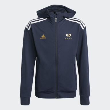 Boys Gym & Träning Blå Salah AEROREADY Football-Inspired Full-Zip Hoodie