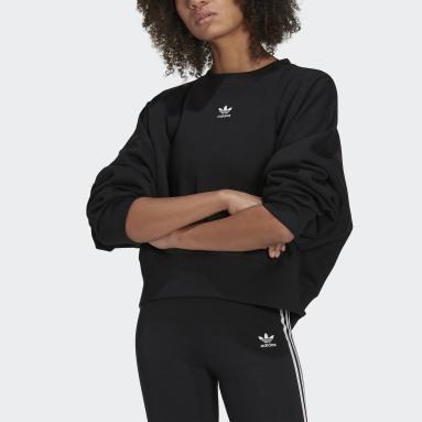 Ženy Originals černá Mikina Adicolor Essentials Fleece