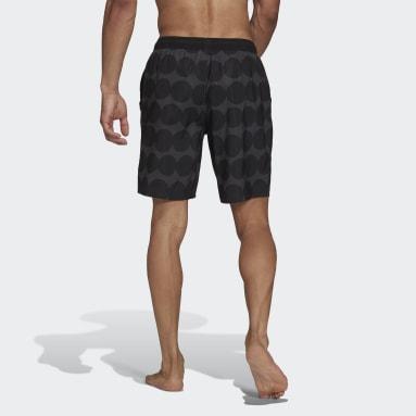 Men's Swim Black Marimekko Classic-Length Swim Shorts