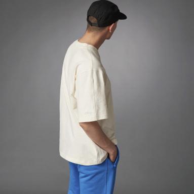 T-shirt Blue Version Essentials Blanc Hommes Originals