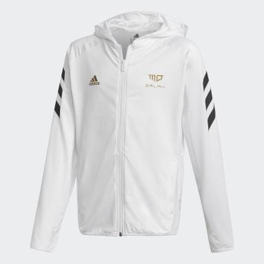 Jungen Fitness & Training Salah Football-Inspired Kapuzenjacke Weiß
