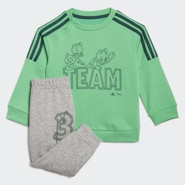 Infants ไลฟ์สไตล์ สีเขียว ชุดเสื้อและกางเกง adidas x Disney Huey Dewey Louie