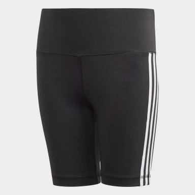 Girls Studio Black Believe This 3-Stripes Short Tights