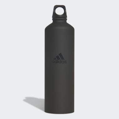 Trail Running Black Steel Water Bottle 0.75 L