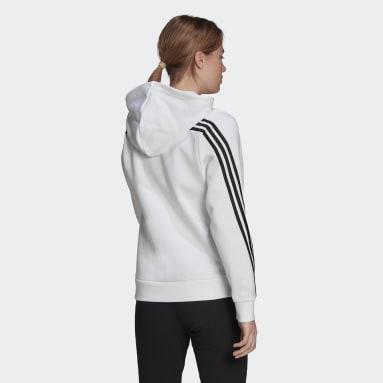 Dames Sportswear Wit adidas Sportswear Future Icons 3-Stripes Trainingsjack met Capuchon