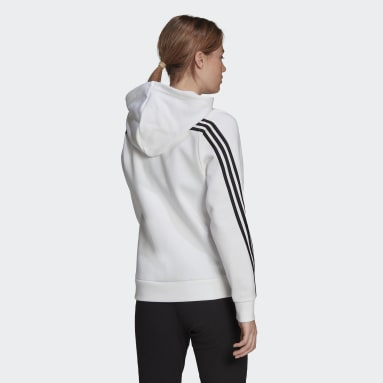 Chaqueta con capucha adidas Sportswear Future Icons 3 bandas Blanco Mujer Sportswear