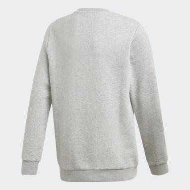 Sweat-shirt Trefoil Crew Gris Enfants Originals