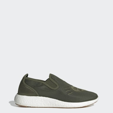 Men Originals Green Human Made Pure Slip-On Shoes