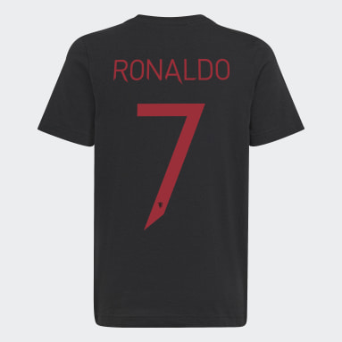Boys Football Black Manchester United Graphic Tee