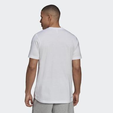 Men's Training White AEROREADY  Designed to Move Sport Cotton Touch Camo Tee