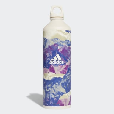 Studio White Yoga Graphic Steel Water Bottle 0.75 L