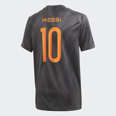 Camisa Football Inspired Messi Cinza Meninos Training