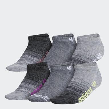 Women's Originals Grey Superlite Gradient No-Show Socks 6 Pairs