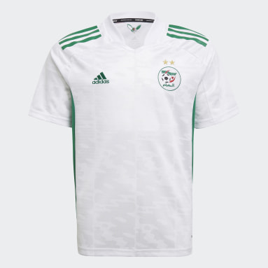 Boys Fodbold Hvid Algeria 20/21 hjemmebanetrøje