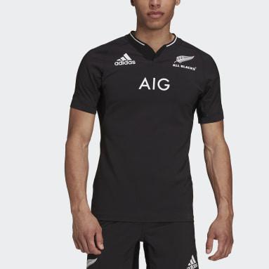 Men Rugby Black All Blacks Performance Replica Home Jersey