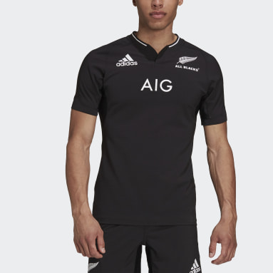 Maillot Domicile All Blacks Performance Replica Noir Hommes Rugby