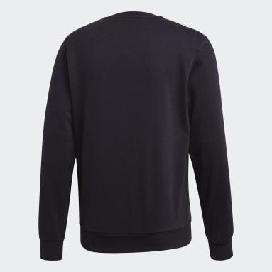 Men Sportswear Black Essentials 3-Stripes Sweatshirt
