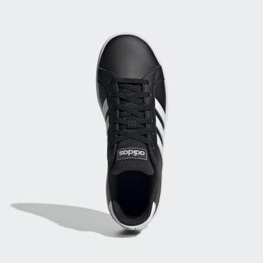 Tenis adidas Grand Court Negro Niño Diseño Deportivo