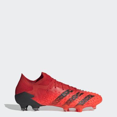Guayos Predator Freak.1 Terreno Firme Rojo Hombre Fútbol