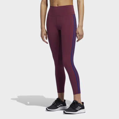 Tight 7/8 Believe This 2.0 3-Stripes Bordeaux Donna HIIT