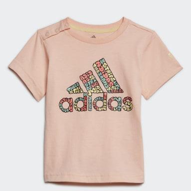 Camiseta Logo Rosa Niña Gimnasio Y Entrenamiento