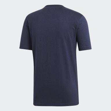 синий Футболка Essentials Plain