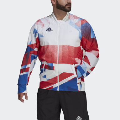 Men Gym & Training White Team GB Podium Jacket