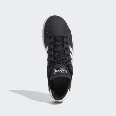Kids Essentials Black Grand Court Shoes