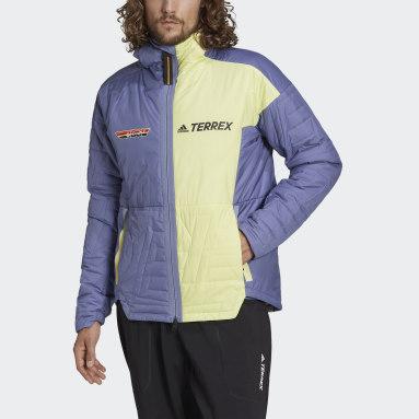 Men TERREX Purple Terrex MYSHELTER Primaloft Hooded Padded Jacket