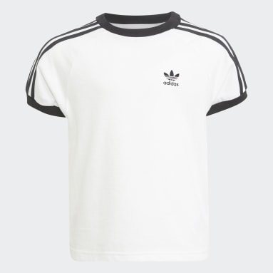 Camiseta Adicolor 3 bandas Blanco Niño Originals